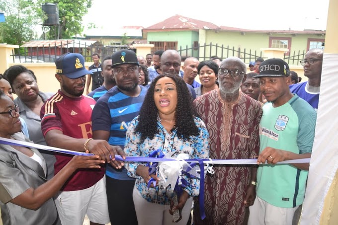 Eastside Sports Club hands over Newly renovated Health Centre to CRSPHCDA - DG,  Dr Betta Edu