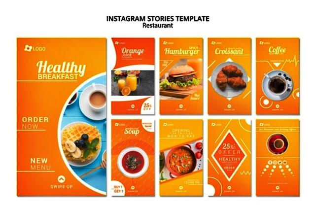 template ig story makanan dan minuman