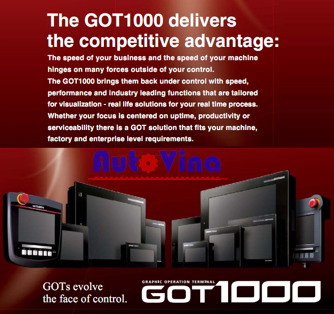 Catalog HMI Mitsubishi GOT1000 Series, tài liệu màn hình Mitsubishi GOT1000