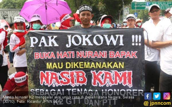 Honorer K2: Malas Dibohongi Terus, Pindah ke Prabowo Saja