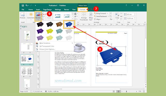 cara membuat katalog produk di microsoft publisher