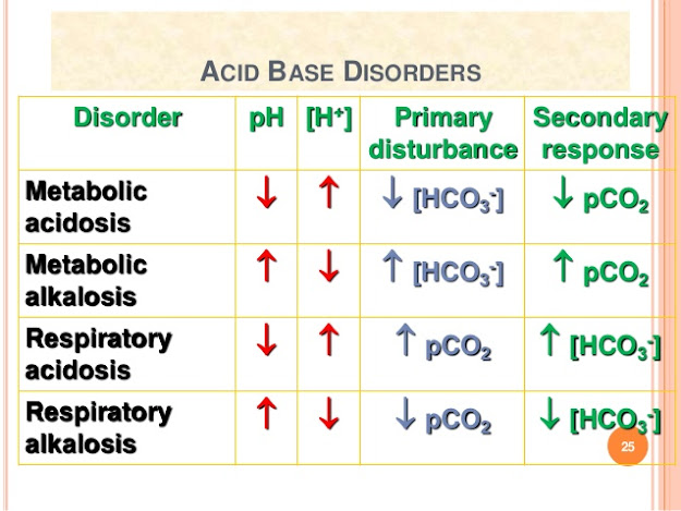 what are the acid base disorders