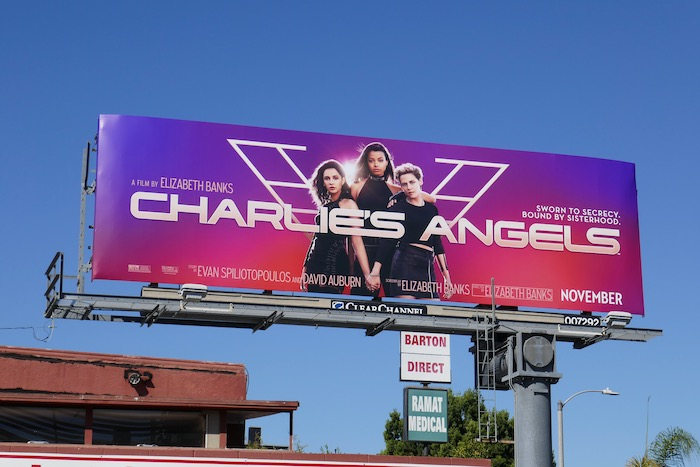 Charlies Angels movie reboot billboard