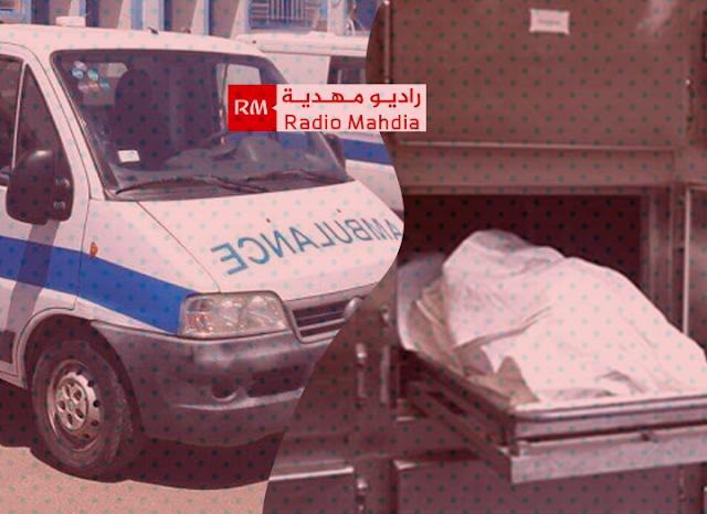 المهدية : وفاة شخص في حادث اصطدام سيارة إسعاف بدراجة نارية