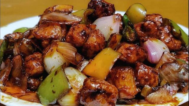 Soya chili recipe, healthy as well as taste