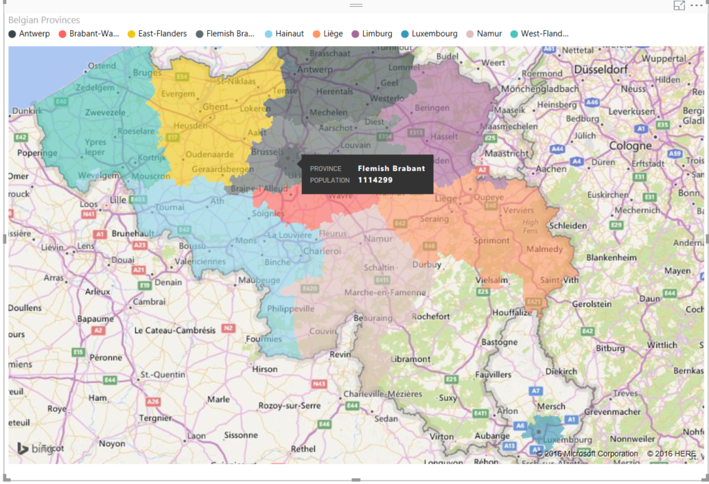 JOPX on CRM Cloud and Analytics Using filled maps in Microsoft