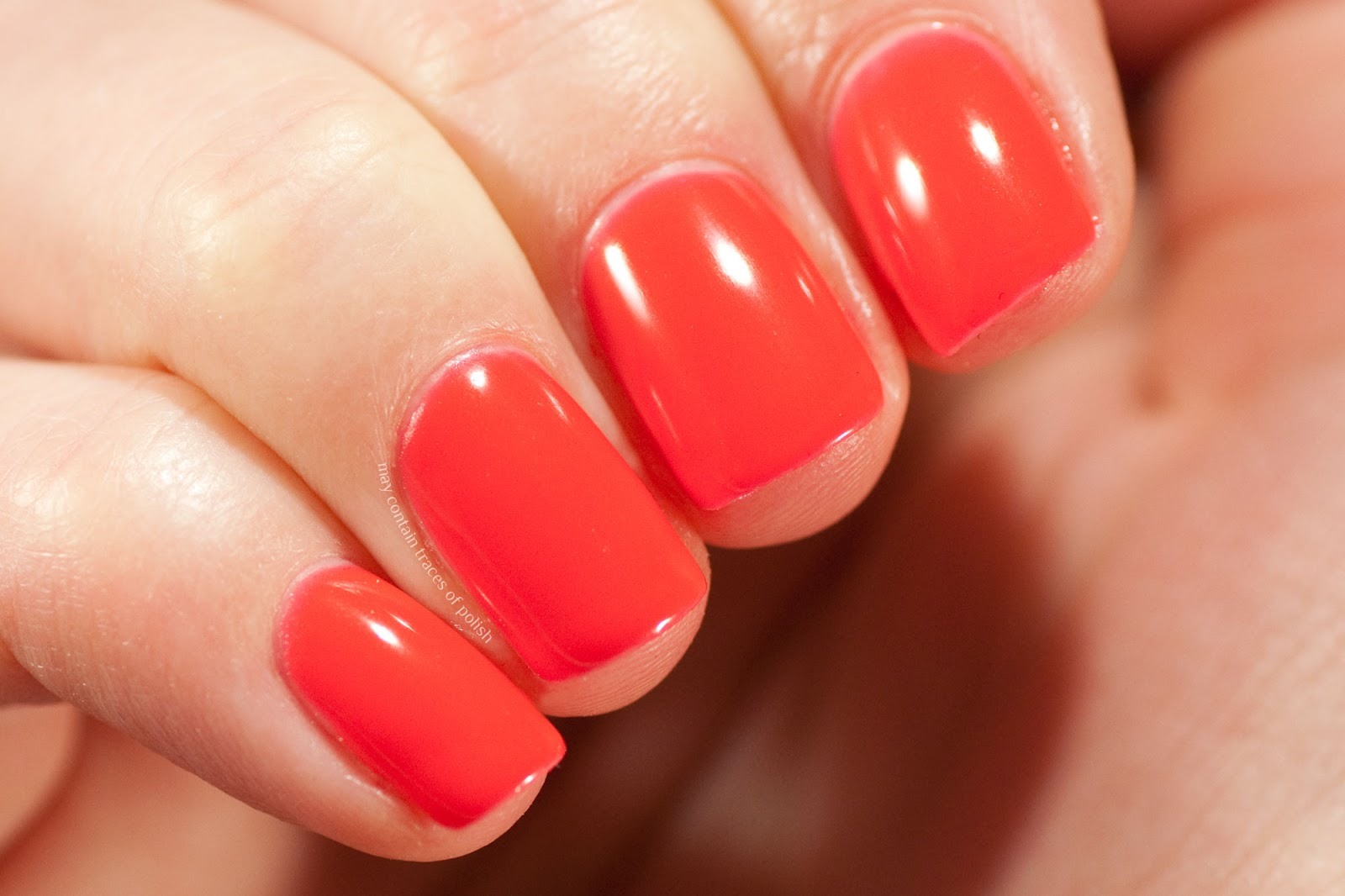 Pink Gellac Swatches - 210 Tangerine Red