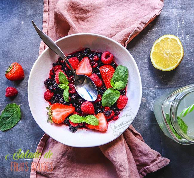 comment faire une salade de fruits rouges