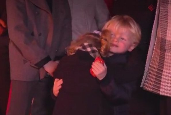 Prince Albert, Princess Charlene, Prince Jacques and Princess Gabriella at Saint Devota celebrations