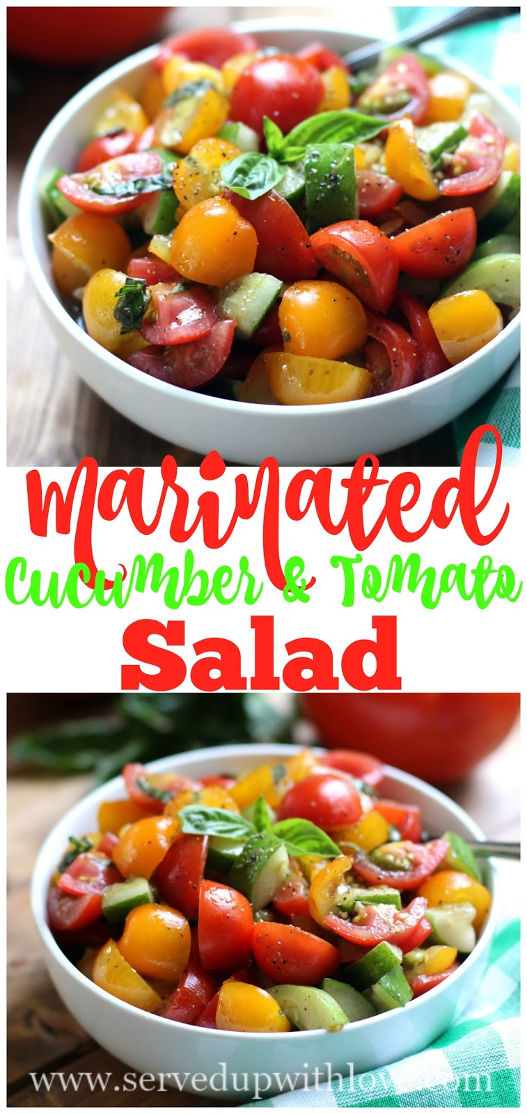 how to make cucumber and tomato salad