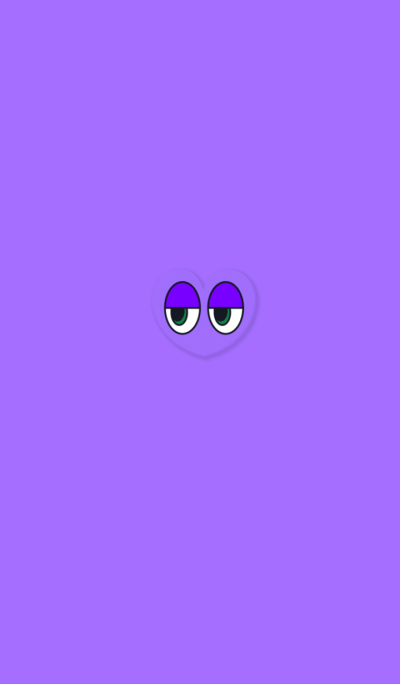 Simple Heart Eye Purple