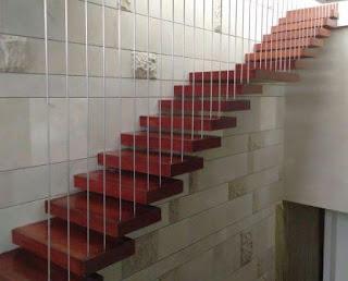 papan tangga kayu jual