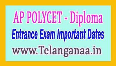 AP POLYCET Entrance Exam Important Dates