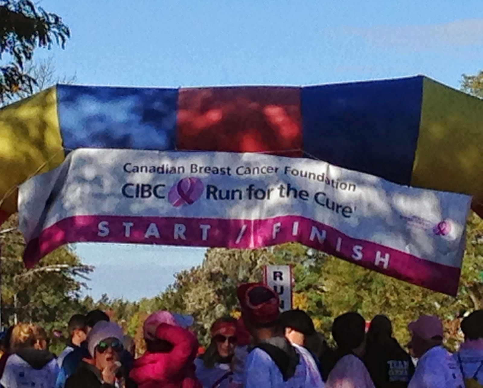 image of the Run For The Cure Start/Finish