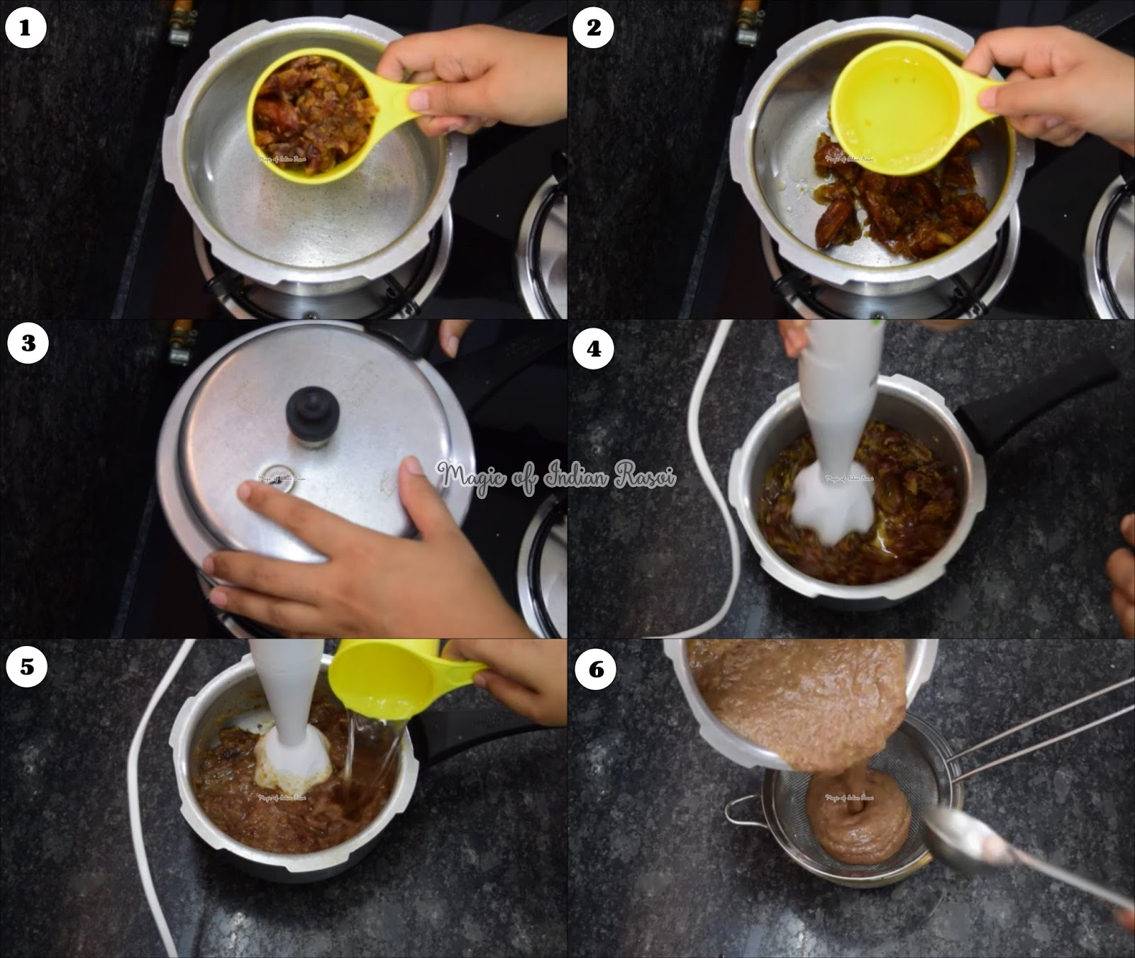 Make Dates Tamarind Chutney at Home - खजूर इमली की चटनी घर पे बनाये - Priya R - Magic of Indian Rasoi