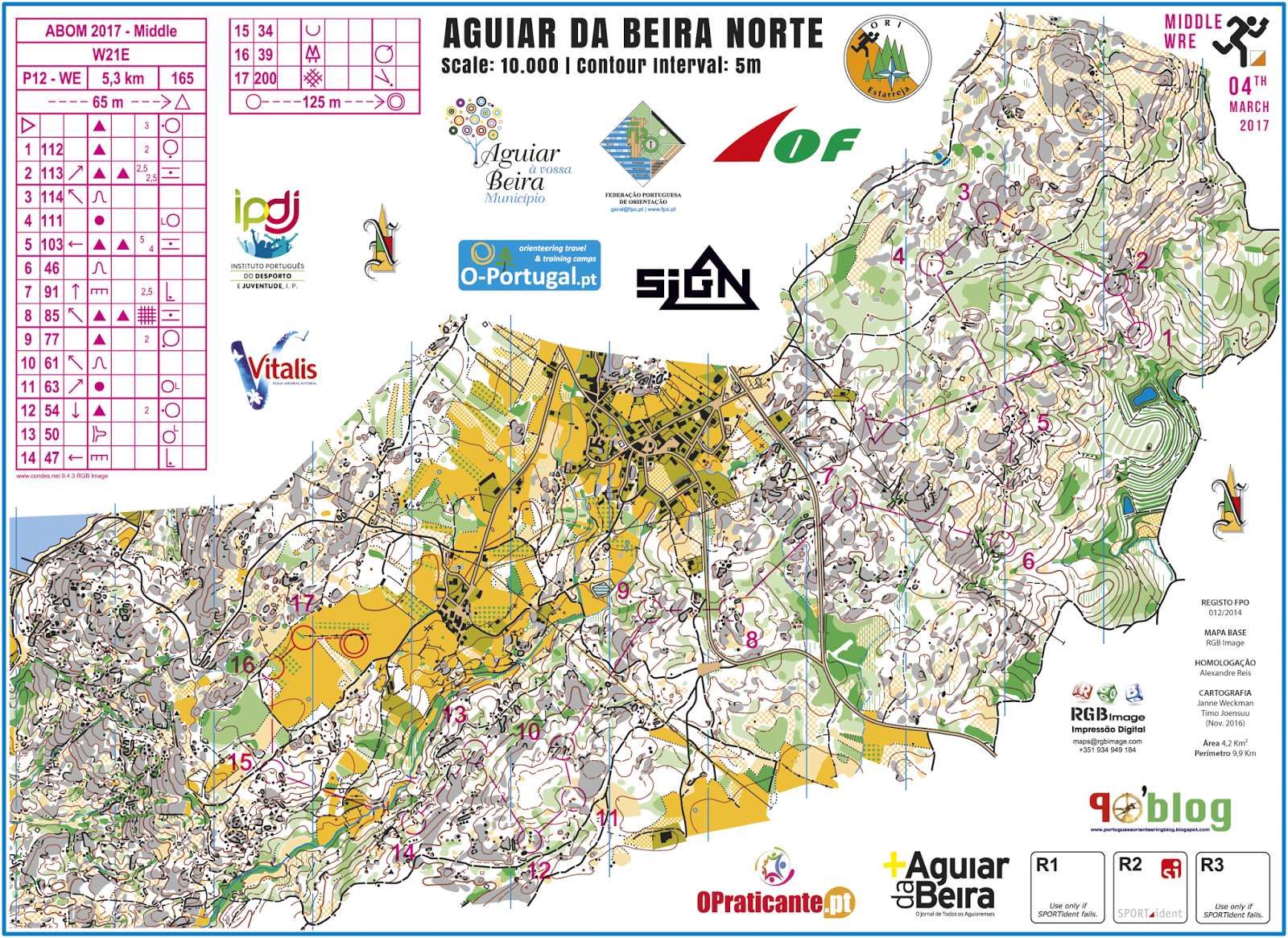 Portuguese Orienteering Blog ABOM Middle Distance WRE And - Portugal map distances