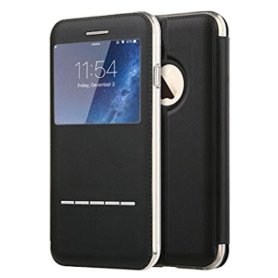 Touch Series View Window Folio Flip PU Leather Case