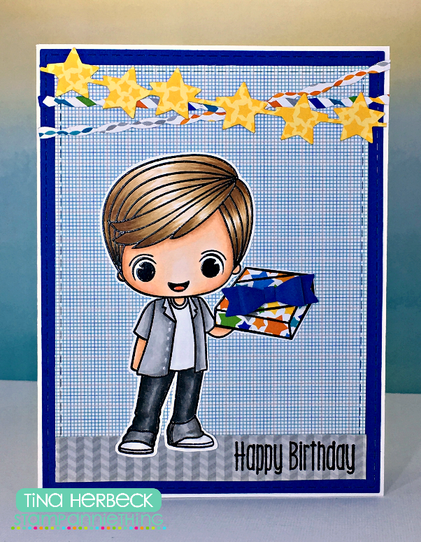 The Scrappin Rabbit Little Boy Birthday Card