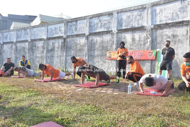 Test Jasmani Seleksi Sespimti, Lemhanas, dan PKN 1 Polda Jambi Dilaksanakan di Stadion Koni Jambi