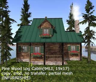 Pine Wood Log Cabin