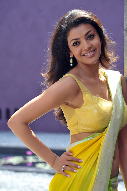 Actress Kajal agarwal Hot Saree Blouse Photos