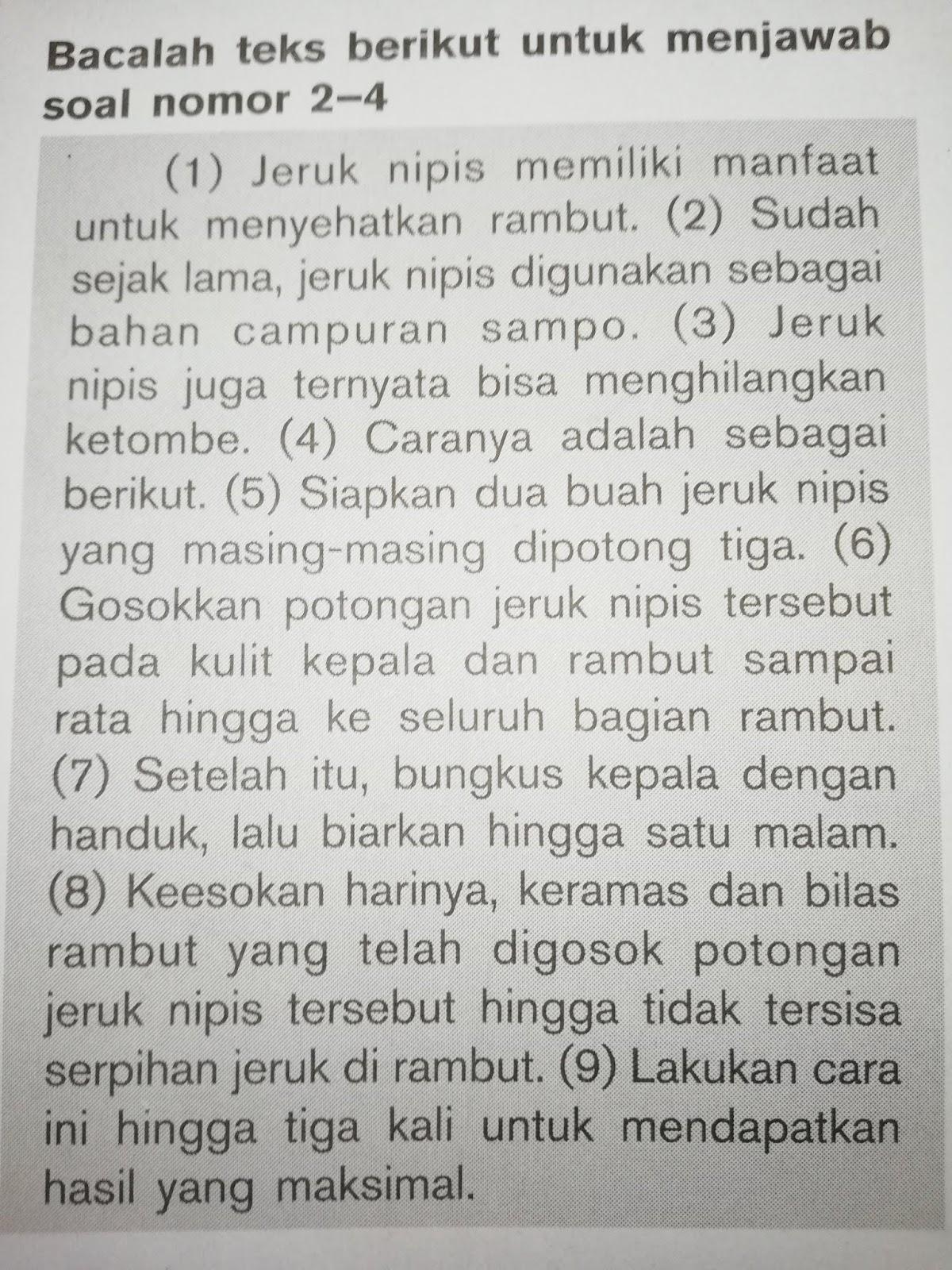 KUNCI JAWABAN MANDIRI BAHASA INDONESIA BAB 1 KELAS 11 ...