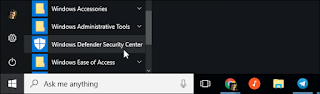 Bar menu windows 10