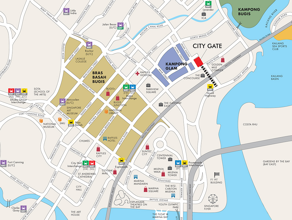 City Gate Location Map