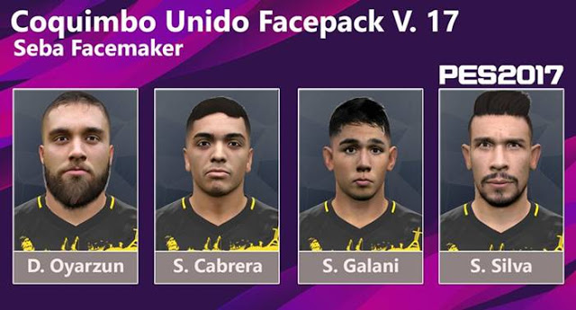 PES 2017 (Coquimbo Unido) Facepack Vol.17