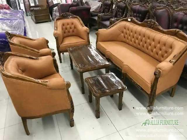 sofa kursi tamu set ukiran lois gelung