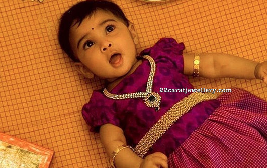 Sreeja Kalyan Daughters Diamond Sets
