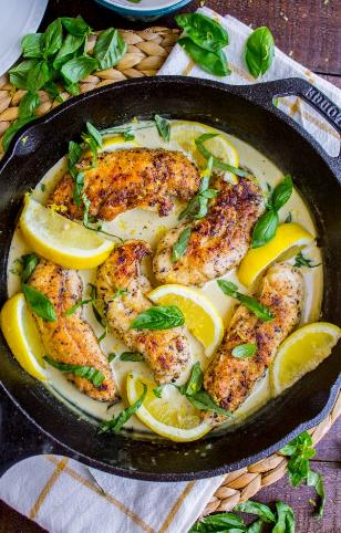 Lemon Chicken With Basil