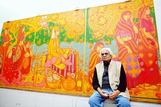 A Ramachandran With His Painting