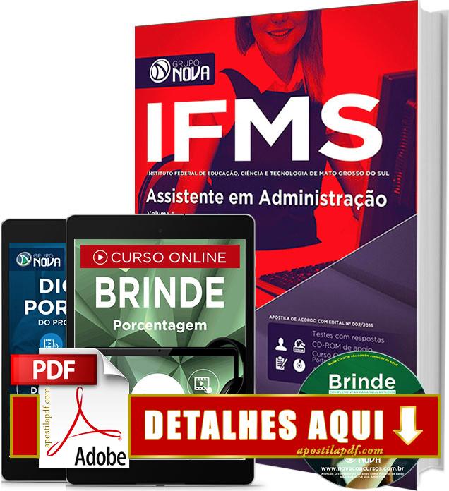 Apostila IFMS 2016 Assistente em Administração Impressa