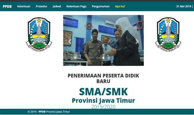 PPDB Jenjang SMA/SMK dan SLB di Jatim, Nilai UN Dijatah 20 Persen