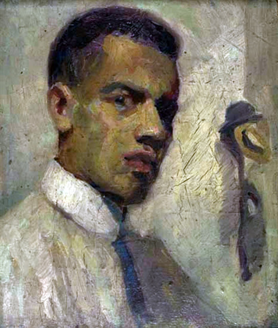 Lenwood Morris, Self Portrait, Portraits of Painters, Fine arts, Portraits of painters blog, Paintings of Lenwood Morris, Painter Lenwood Morris