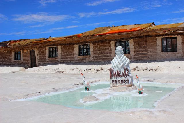 El primer Hostal de sal en Uyuni