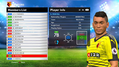 PES 2016 Option File Update Transfers 21 August 2016 For PES Professional v4.2 by Jovan Roy Villiardy