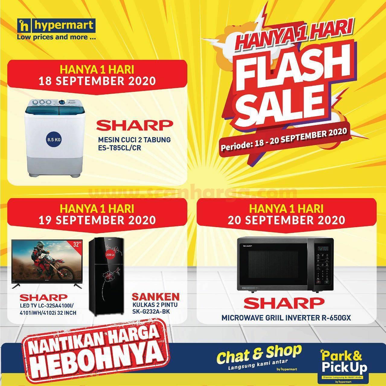 Promo Hypermart Flash Sale Spesial Elektronik Periode 18 - 20 September 2020