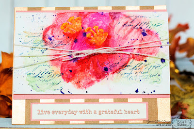 Tonya Gibbs Watercolor Grateful Heart  for Yvonne Blair Designs