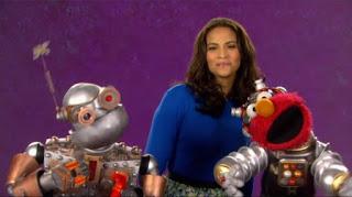 Paula Patton celebrity, Elmo, the word on the Street Innovation, Sesame Street Episode 4319 Best House of the Year season 43