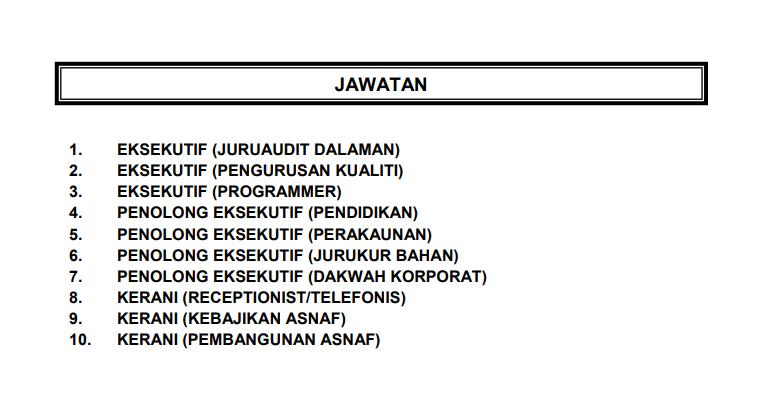 Jawatan Kosong di Zakat Pulau Pinang (MAINPP) 2020