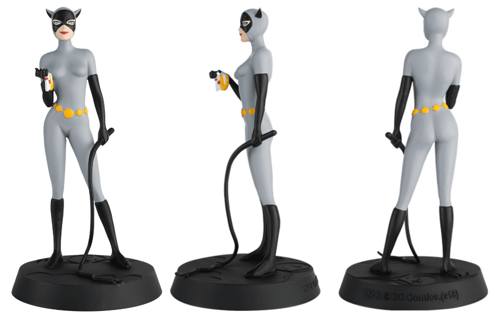 batman the animated series figurines collection, colección de figuras batman la serie animada, eaglemoss collections, hero collector, catwoman figurine, gatúbela