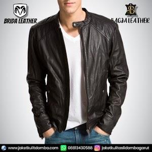 Jual Jaket Kulit Asli Garut Pria Domba Original Brida Leather B68 | WA 08813430588