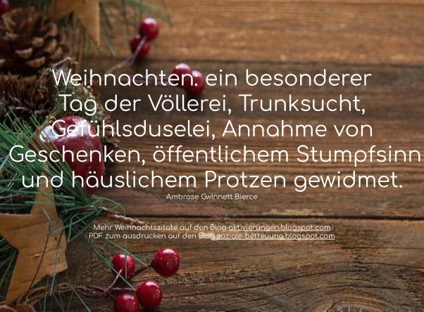 Weihnachtszitat, Seniorenarbeit, Rätsel