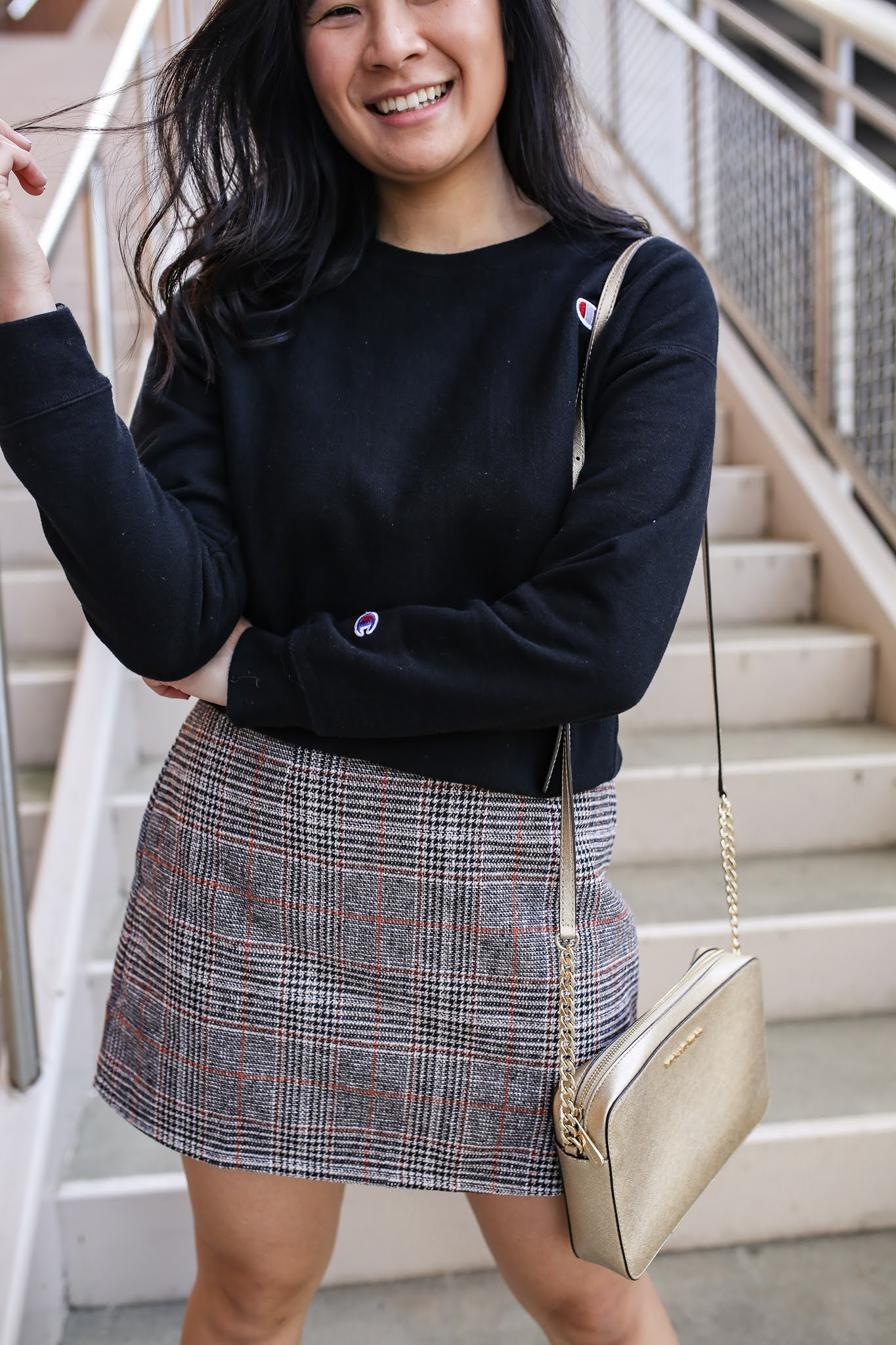 how to style a plaid skirt for fall