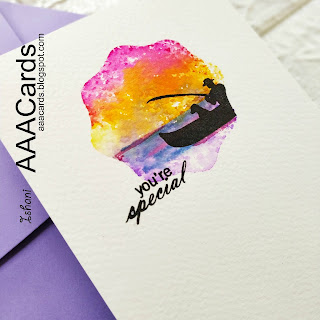One layer Masculine card, Acrylic block stamping, Hero Arts lake card, Pier at the lake stamp set, Quillish, Clean and simple cards