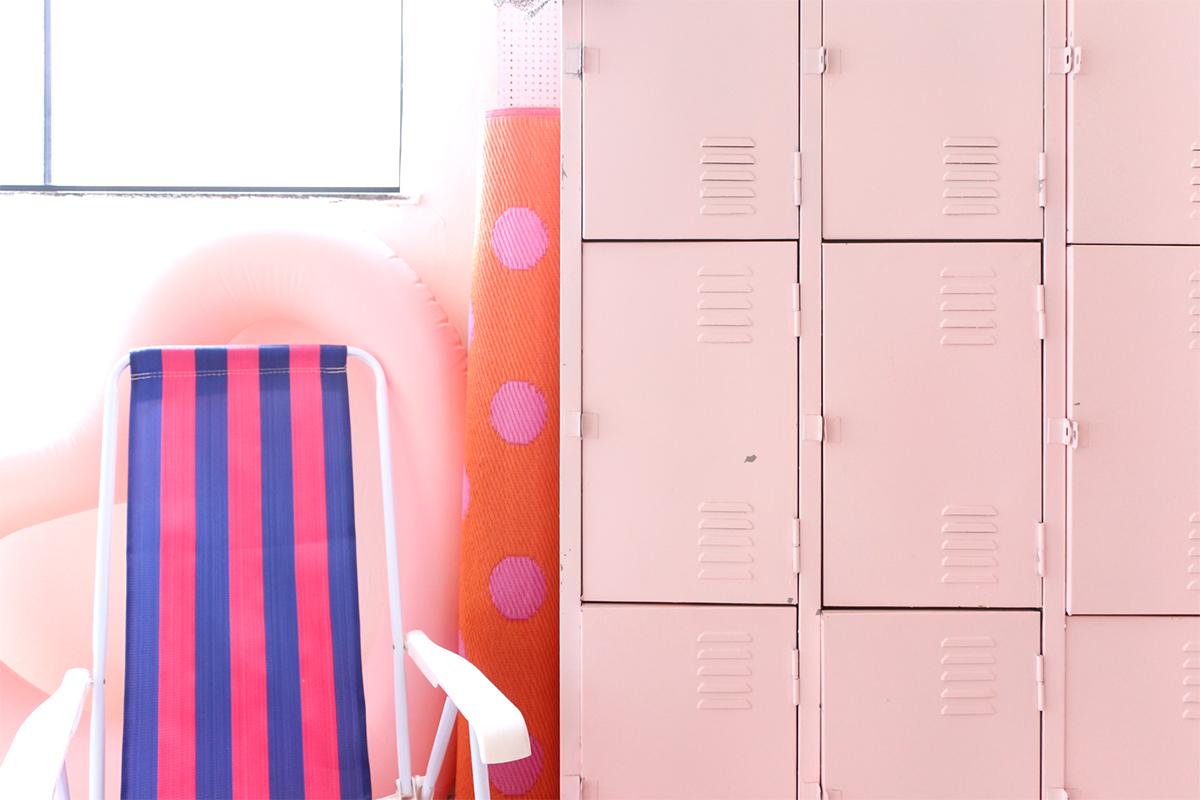 armario arquivo locker academia escritorio retro antigo colorido cor de rosa