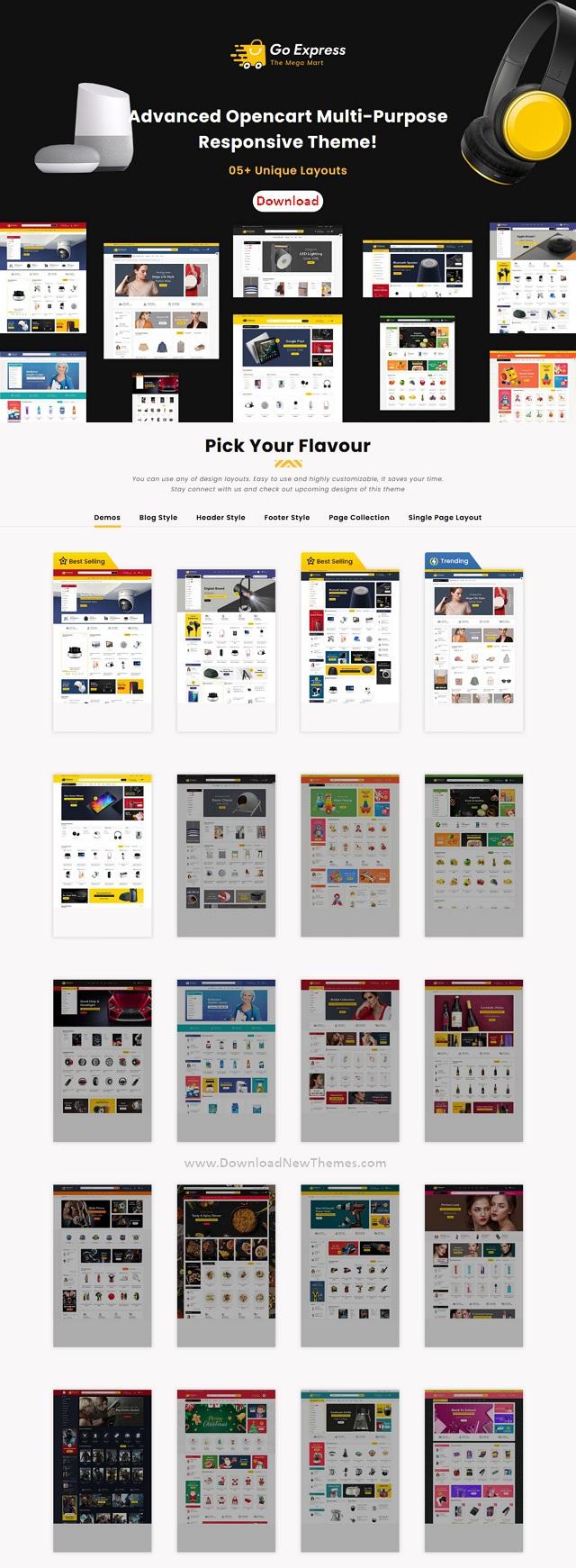 OpenCart Multipurpose Responsive Theme