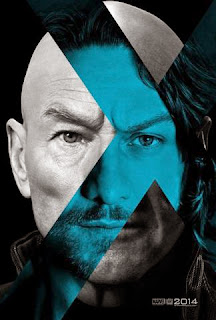 James McAvoy and Patrick Stewart as Professor Charles Xavier in X-Men Days of Future Past Poster